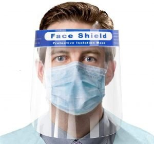 Free adult face shield pet plastic