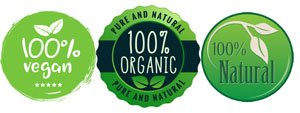 100 percent organic-vegan-natural