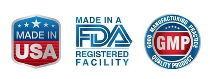 Made in the USA premium quality FDA approved facility