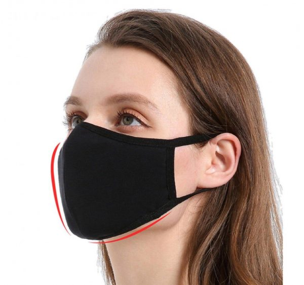 Toprosan Cotton Blend Black Stretch Face Masks with filters