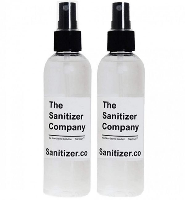 The Sanitizer Company Toprosan Vegan Organic Liquid Hand Sanitizing Cleaner Spray Bottle - Made in USA - Unscented (Two 4 ounce bottles)