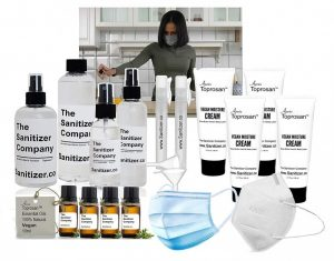 The Sanitizer Company Health and Cosmetics Toprosan Hand Sanitizer Essentials Gift Set for a Basket or Box Bundle #3