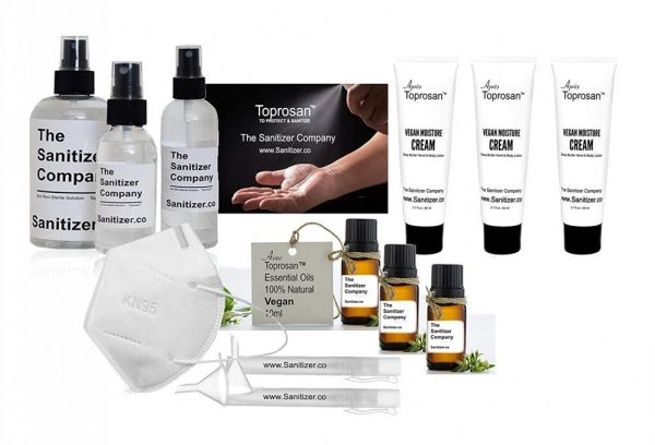 The Sanitizer Company Health and Cosmetics Toprosan Gift Set for a Basket or Box Bundle #4