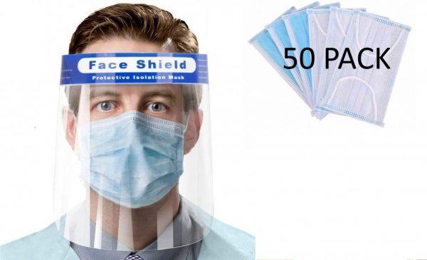 The Sanitizer Company Face Shields Masks Bundle